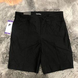 Hilary Radley Bermuda Shorts: Black (PM1159)